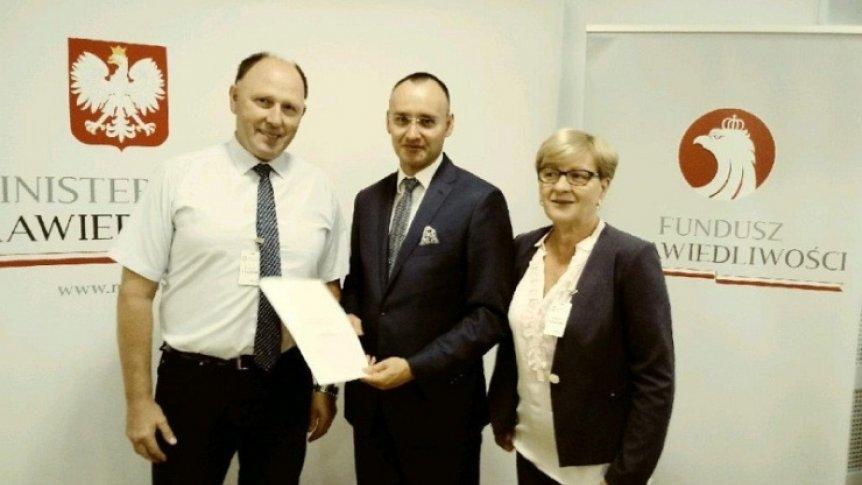 Gmina Odrzywół podpisała umowę dotacyjną z Ministerstwem Sprawiedliwości