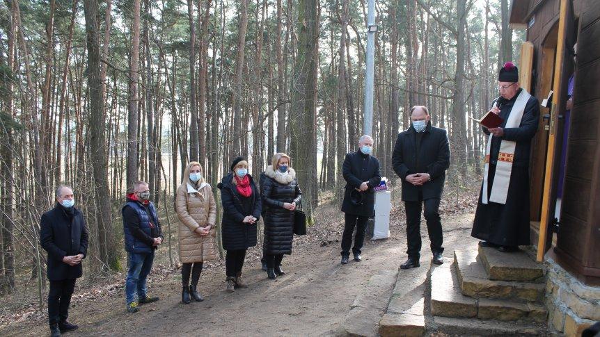 Uroczyste poświęcenie kaplicy w Stanisławowie -  Królówce